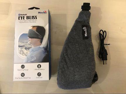 🚚 Merlin eye bliss sleep mask with mic and Bluetooth headphones