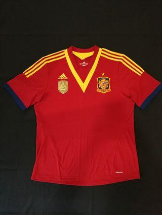 6eba727529a Spain 12/13 Home Football Shirt Jersey Jersi Adidas