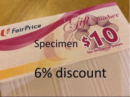 NTUC Fairprice vouchers 6% discount