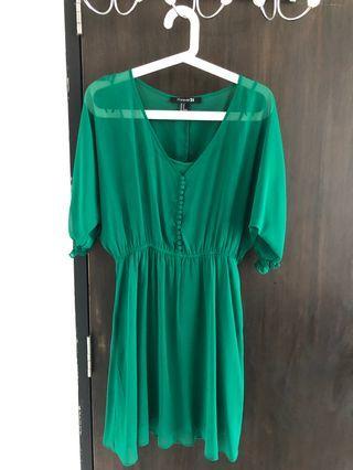 Green Chiffon Weekend Dress