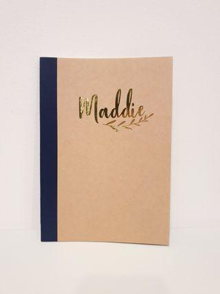 Personalised Kraft notebook teachers day children day gift set Christmas birthdays