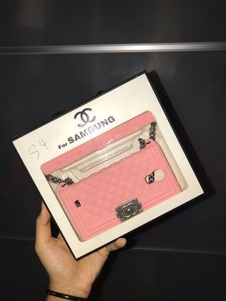 Light Pink Chained Chanel Samsung S4 Phone Case.