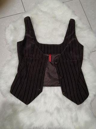 Mod house brown suede vest size m