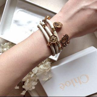 🚚 Chloé 波希米亞風 米色 多層手環