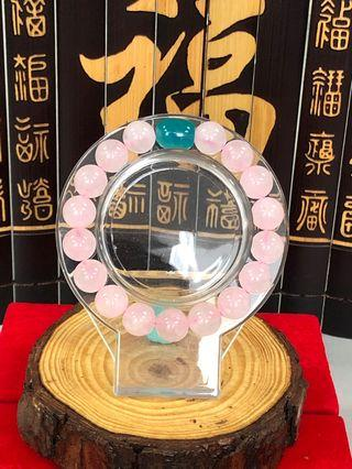 🚚 粉晶天河石手链 Rose Quartz with Amazonite