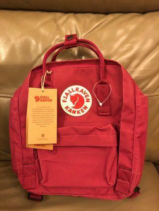 Kanken mini Backpack plum 紅色