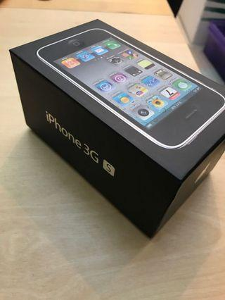 iPhone 3gs black BOX ONLY