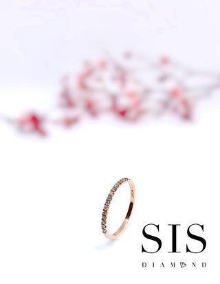 小清新 18k 哄女友 小禮物 線戒 SIS Diamond