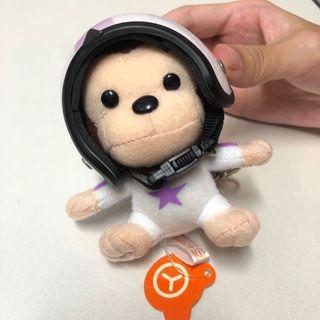 🚚 安全帽猴子吊飾 鑰匙圈