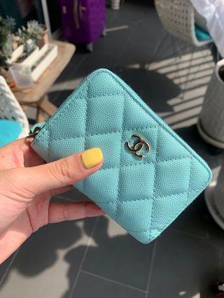 ⚡️FLASH SALE ⚡️Chanel zippy coin purse in tiffany blue 💕