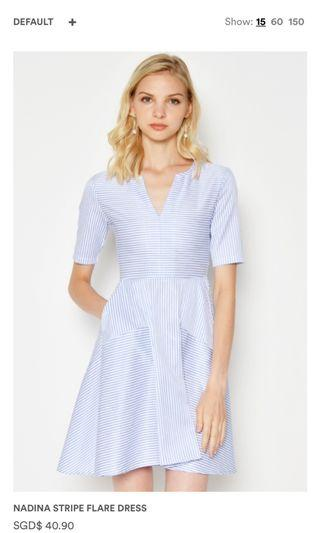 Nadina Striped Flare Dress