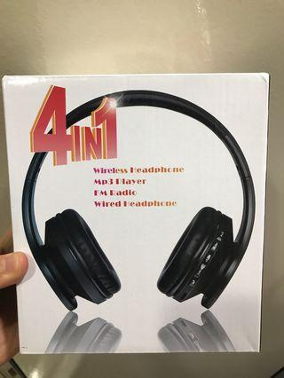 4 in 1 wireless foldable headphone