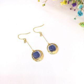 天然藍晶石耳環