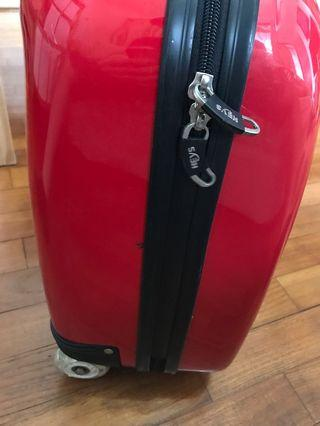 2 Heys carry-on small suitcases