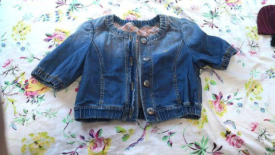 Authentic burberry Cropped Denim Jacket