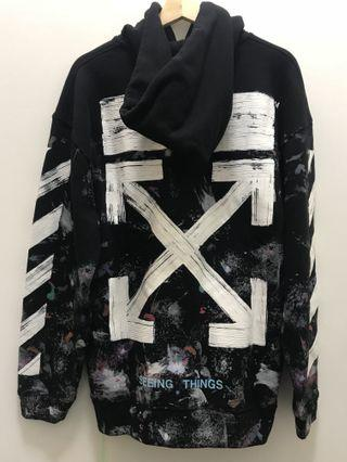 INSTOCK Off White 17FW Galaxy Brushed Hoodie