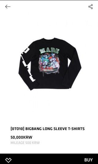 BIGBANG MADE 長袖T恤