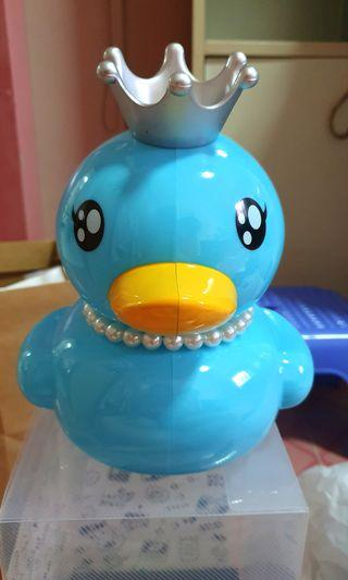 Big Blue Duckling Coin Bank