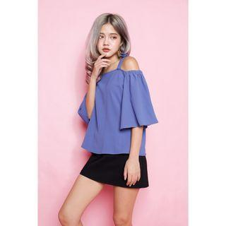 Off Shoulder Top - Blue
