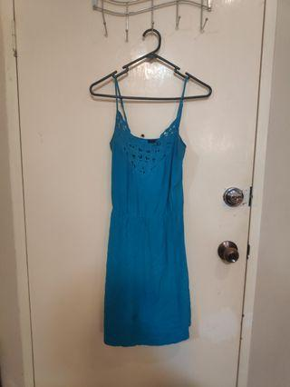 Teal ladakah dress size 8