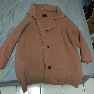 🚚 韓版 厚磅針織外套 罩衫