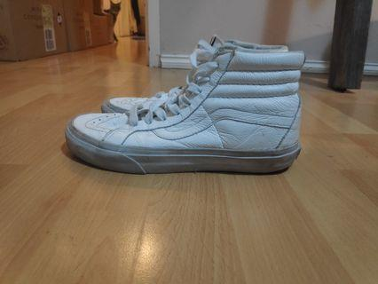 White leather vans size 7.5