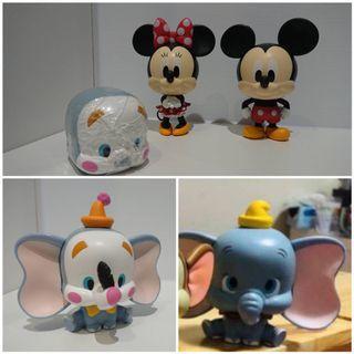 🚚 小飛象2隻+米妮1隻+米老鼠1隻