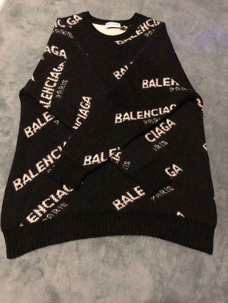 🚚 Balenciaga 滿版毛衣