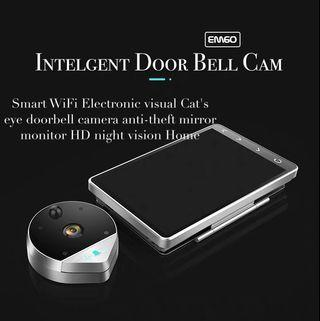 Smart WiFi Electronic visual Cat's eye doorbell camera anti-theft mirror monitor HD night vision Home
