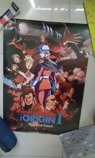 Mobile Suit Gundam The Origin 1 Blue-Eyed Casval Special Edition Movie Poster