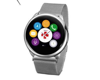 🚚 MyKRONOZ ZeRound Premium 觸控通訊米蘭腕錶-銀白