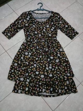 Flower Brown Dress