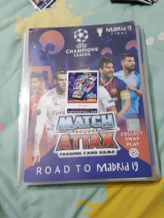 Match Attax Road To Madrid code cards.