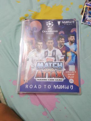 Match Attax Road to madrid nearly full collection blinder