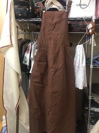 🚚 復古洋裝吊帶連衣裙