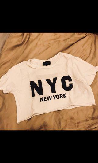 Topshop NYC crop top