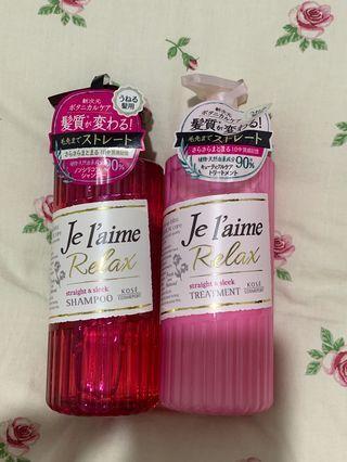 Je'laime relax shampoo and treatment set