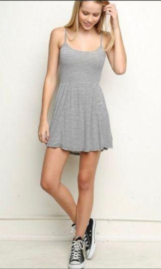 BN Brandy Melville Striped Dress Adjustable Straps