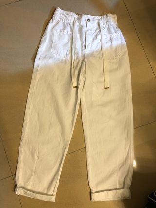 Zara white cotton pants