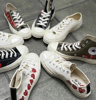 Convers x CDG Play Chuck Taylor 1970  Low/H