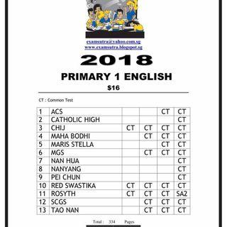 Popular Primary School Exam Papers - Soft copy