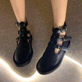 全新羅馬綁帶小羊皮休閒鞋 全新 35號 版正常
