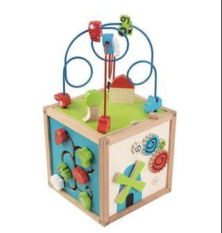 Activity Cube wooden kid maze