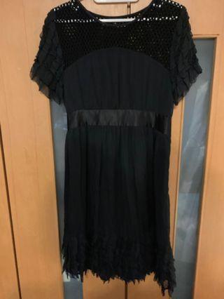 🚚 絲質黑色洋裝