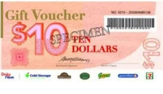 1 to 1 Trade dairy farm voucher to capital mall /takashimaya /Robinson /Harvey Norman /  metro/BHG/Amk hub