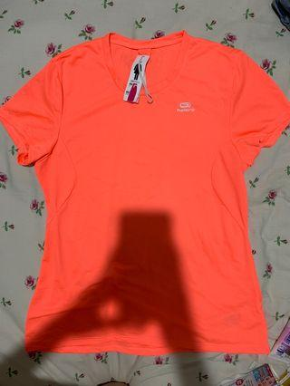 🚚 Decathlon kalenji bright orange tee