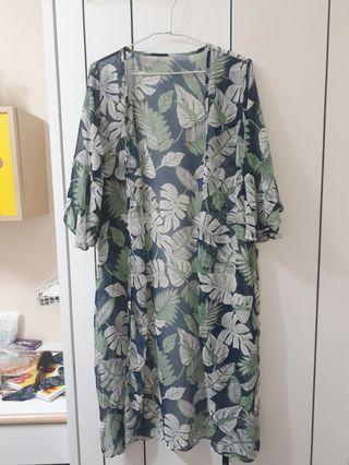 🚚 韓版葉子罩衫