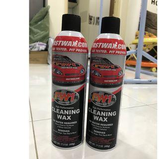Car cleaning wax x2 bottles