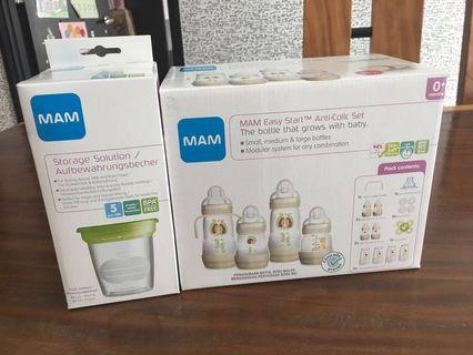 MAM Easy Start anti colic bottles set with storage containers