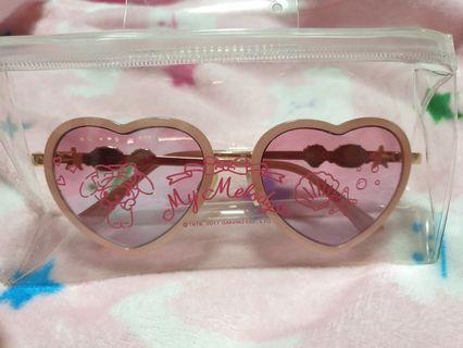 My Melody Pink Heart Shaped Sunglasses